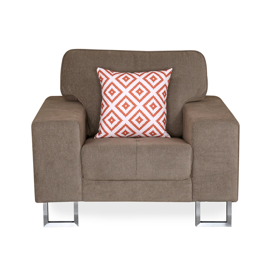 Chicago 1 Seater Sofa (Brown)