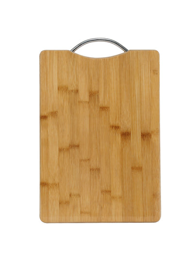 Chopping Board With Stainless Steel Handle (Wooden)