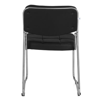 Contract 02 Soft PVC Visitor Chair without Arm (Black)