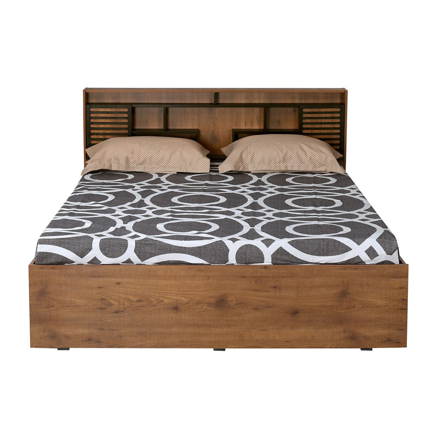 Czar 2 King Bed with Box Storage (Wenge & Knotwood)