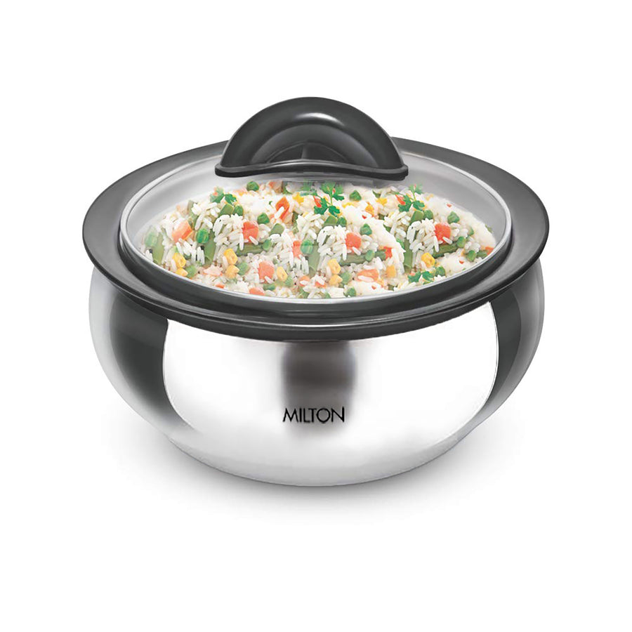 Milton Casserole Ss 2L with Glass Lid Clarion