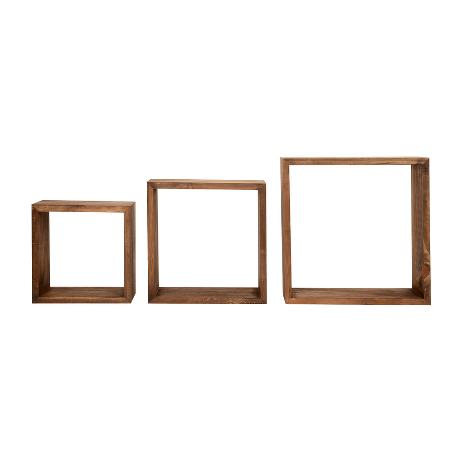 Damas Wall Shelf Set of 3 (Walnut)