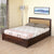 Danbury King Bed with Hyudraulic Storage (Brown)