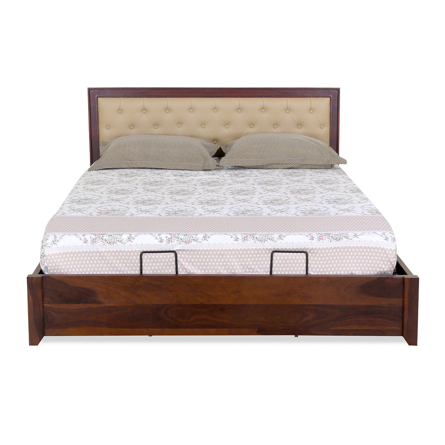 Danbury Queen Bed with Hyudraulic Storage (Brown)