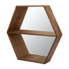 Dazzle Wall Shelf With Mirror (Walnut)