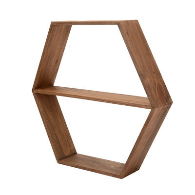 Dazzle Wall Shelf Without Mirror (Walnut)