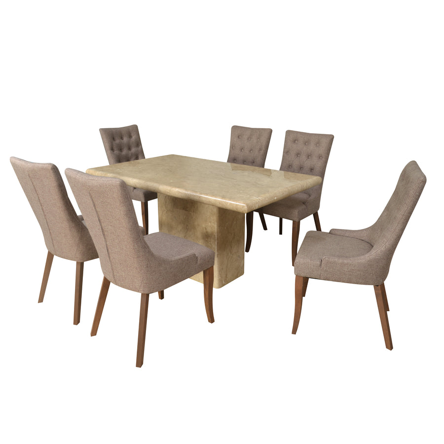 Desire 6 Seater Dining Set (Yellow)