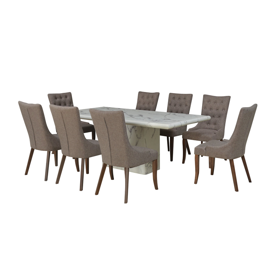 Desire 8 Seater Dining Set (White)