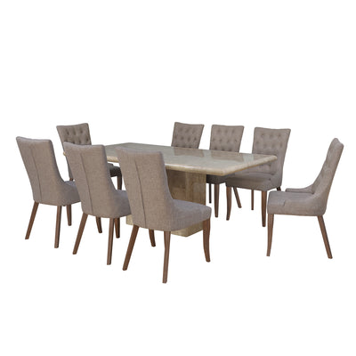 Desire 8 Seater Dining Set (Yellow)