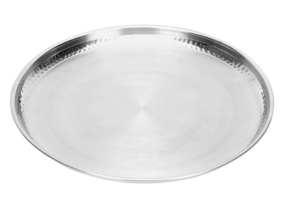 Hammered Stainless Steel Dinner Plate (Silver)