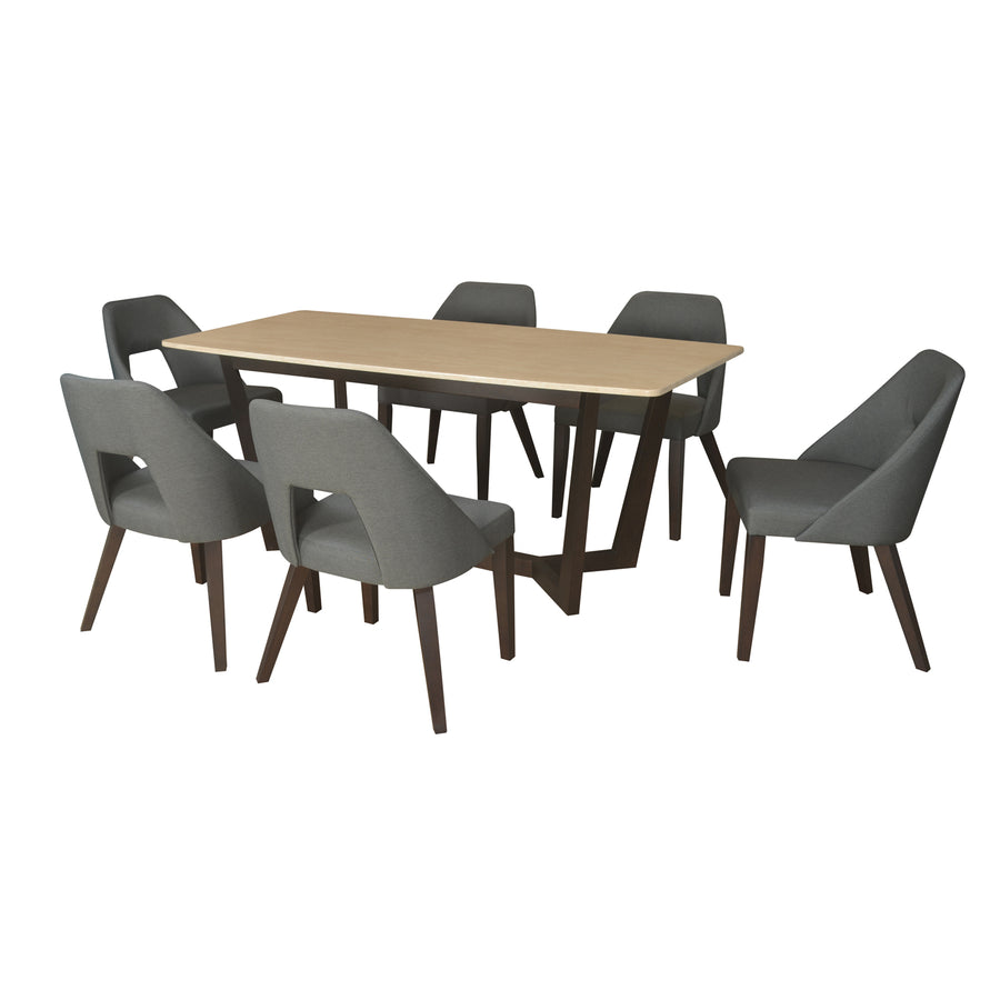 Domenico 6 Seater Dining Set (Beige)
