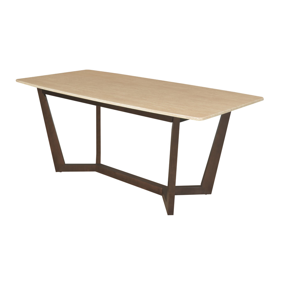 Domenico 6 Seater Dining Table (Beige)