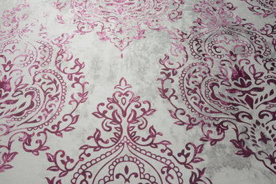 Motif 60 cm x 150 cm Carpet (Beige & Purple)