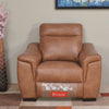 Evelyn 1 Seater Sofa Electrical Recliner (Tan Brown)