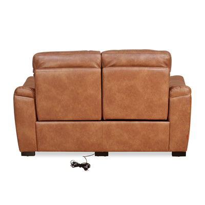 Evelyn 2 Seater Sofa Electrical Recliner (Tan Brown)