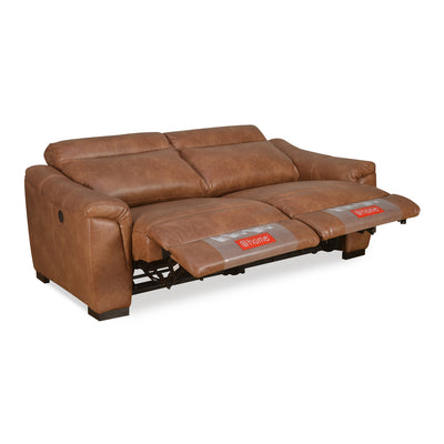 Evelyn 3 Seater Sofa Electrical Recliner (Tan Brown)