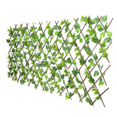 Expendable Fence with White Flowers (Green)