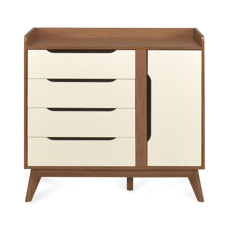 Febian 4 Chest Of Drawer With Shoe Cabinet (Walnut)