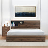 Borden Queen Bed With Torrie Night Stand (Wenge)