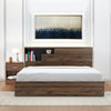 Borden Queen Bed With Night Stand (Wenge)