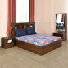 Lincoln Queen Bedroom Set With Night Stand and Dresser (Brown)