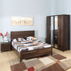 Zerlin King Bedroom Set With Four Door Wardrobe (Brown)
