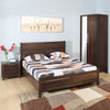 Zerlin Queen Bedroom Set With Two Door Wardrobe (Brown)