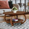 Swirl Center Table (Walnut)