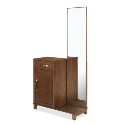 Mindy King Bedroom Set With Storage Night Stand and Dresser (Brown)