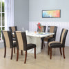 Desire Jenn Six Seater Dining Set (White And Walnut)