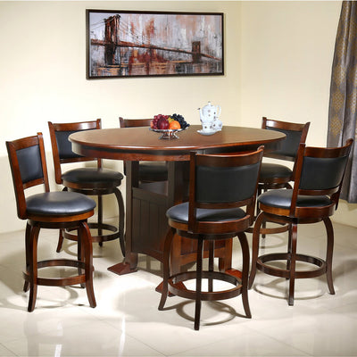 Grant 6 Seater Dining Set (Dark Expresso)