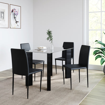 Janet Four Seater Dining Set (Clear)