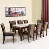 Jenn Eight Seater Dining Set (Beight & Walnut)
