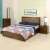 Mindy Queen Bedroom Set With Storage Night Stand and Dresser (Brown)