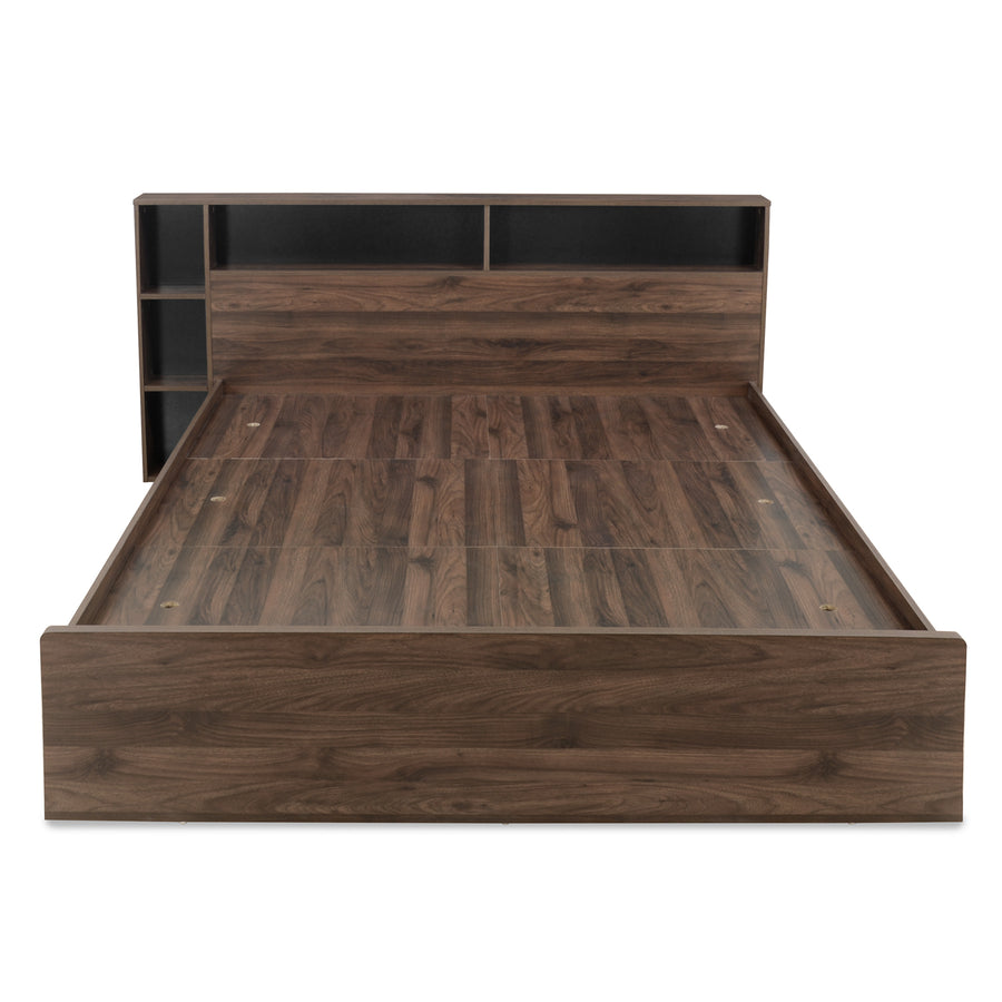 Torrie Queen Bed With Night Stand (Wenge)
