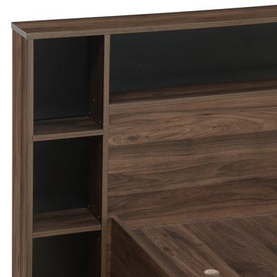 Torrie Queen Bed With Borden Night Stand (Wenge)