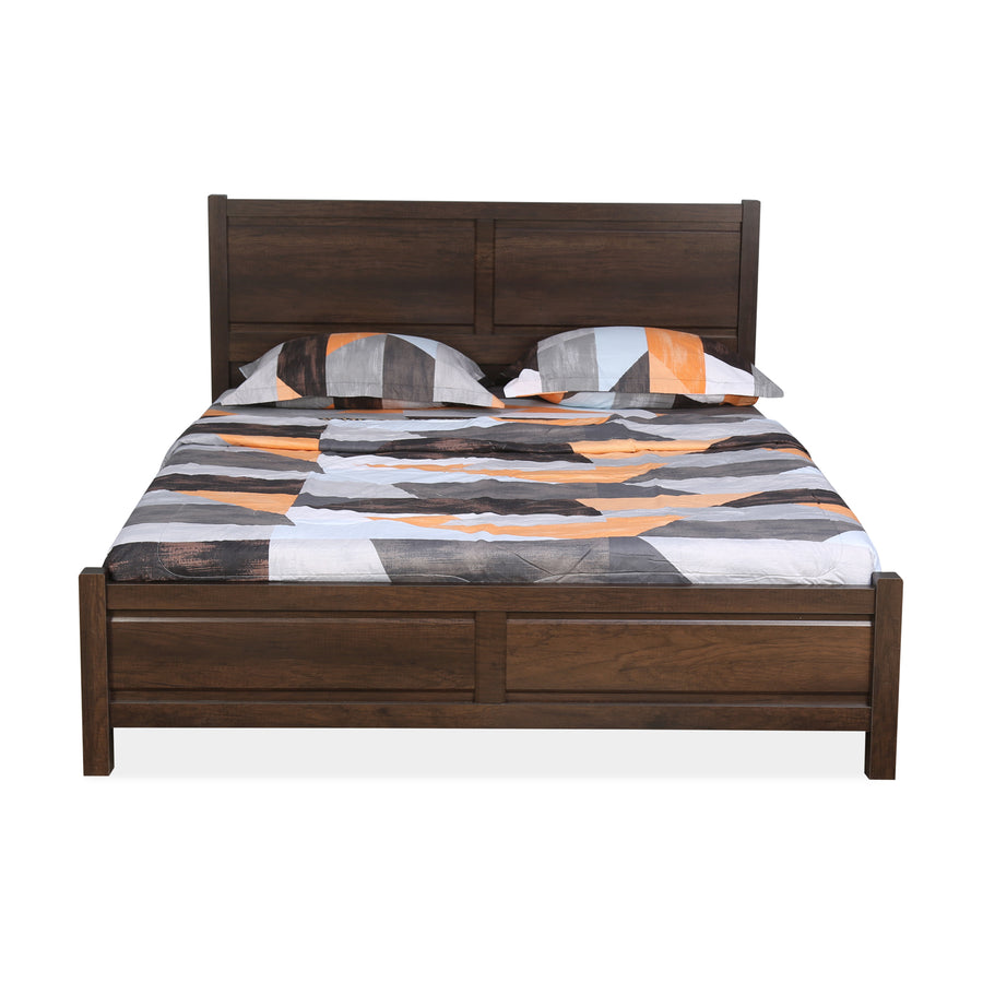 Zerlin Queen Bed With Out Storage (Dark Wlnut)