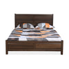 Zerlin Queen Bed Set with 4 Door Wardrobe  (Brown)