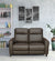 Admiral 2 Seater Sofa With Electrical Recliner (Dark Brown)