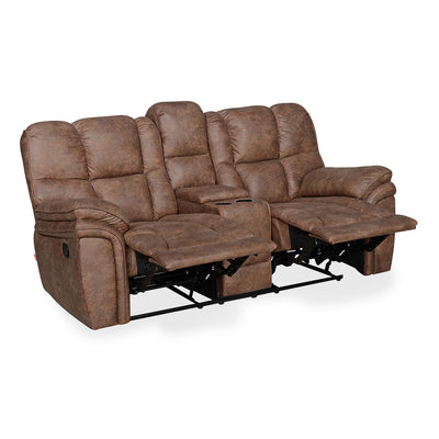 Dubai 2 Seater Manual Recliner with Console (Brown)