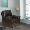 Ethan 1 Seater Sofa With Manual Rocker Recliner (Russet Brown)