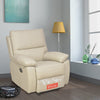 Leslie 1 Seater Sofa Manual Recliner (Cream)