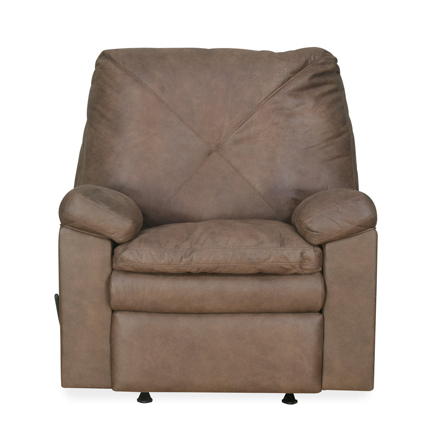Vennessa 1 Seater Sofa Rocker Recliner (Light Brown)