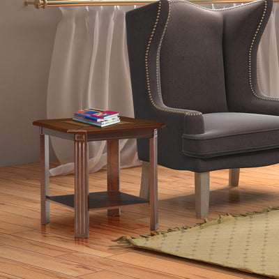 Cindy Side Table (Bronze Walnut)