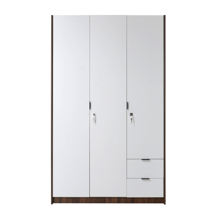 Avery 3 Door Wardrobe (Wenge & White)