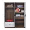 Avery 4 Door Wardrobe (Wenge & White)