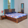 Hulk Queen Bedroom Set with Storage (Walnut)