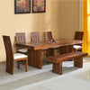 Delmonte Eight Seater Dining Set With Bench (Walnut)