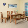 New Granada Eight Seater Dining Set With Bench (Natural Walnut)