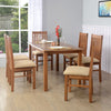 Roosey Six Seater Dining Set (Natural Walnut)